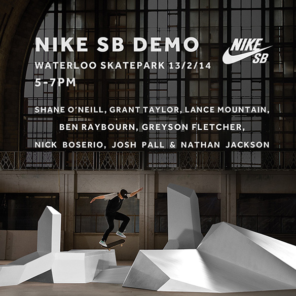 RE: Nike Demo Waterloo Thursday