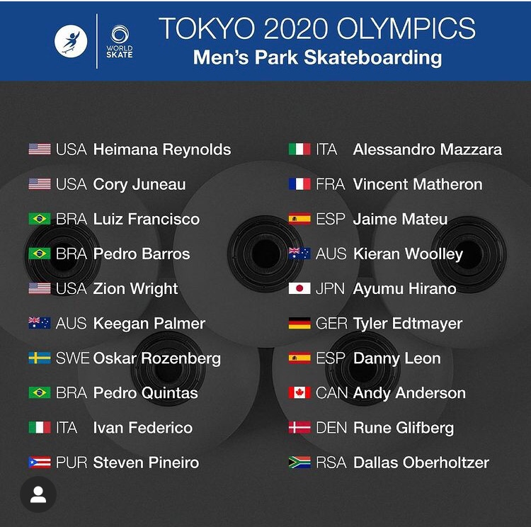RE: Olympians Announced